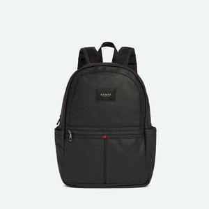 State Bags Kane Black Coated Canvas Backpack