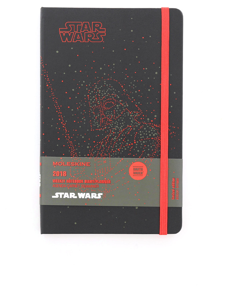 Moleskine 2018 12M Star Wars Weekly Notebook Large Darth Vader