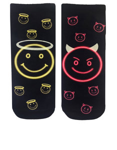 Living Royal Naughty Or Nice Glow-In-The-Dark Ankle Socks