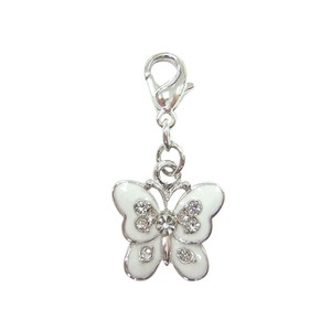 Bombay Duck White Butterfly Charm