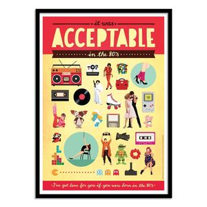 Acceptable Art Poster by Nour Tohme [30 x 40 cm]