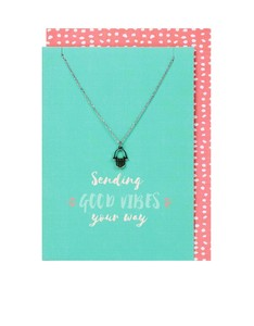 Sending Good Vibes Necklace & Card