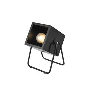 Leitmotiv Table Lamp Hefty Square Black