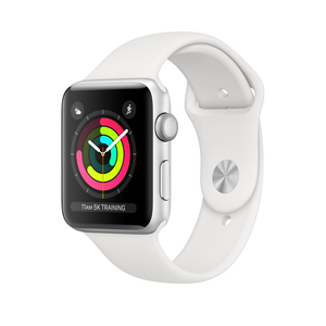 Apple Watch Series 3 GPS 42mm Silver Aluminium Case with White Sport Band
