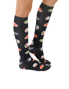 Living Royal Raw Sushi Knee High Socks