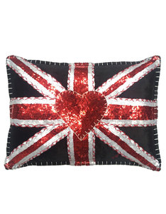 Jan Constantine Glam Rock Multi Sequin Union Jack Cushion