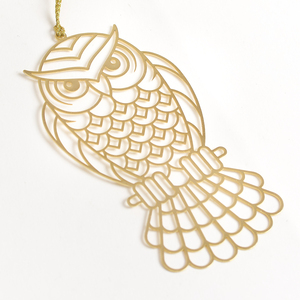 Letternote Owl 24K Gold Plated Metal Bookmark