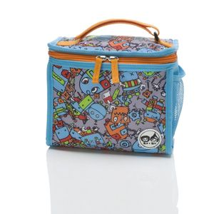 Zip & Zoe Robot Zipped Lunch Bag & Ice Pack Blue