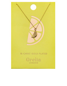 Orelia Gold-Plated Lemon Ditsy Necklace