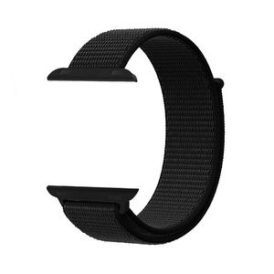 Promate Fibro-38 Black Sporty Nylon Mesh Weave Adjustable Strap for 38mm Apple Watch