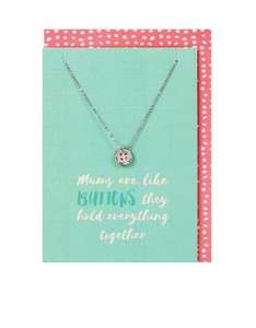 Mums are Like Buttons Necklace & Card