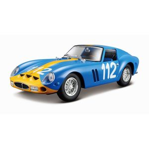 BBurago Ferrari 250 GTO Blue/Yellow 1/24 Scale Model Car