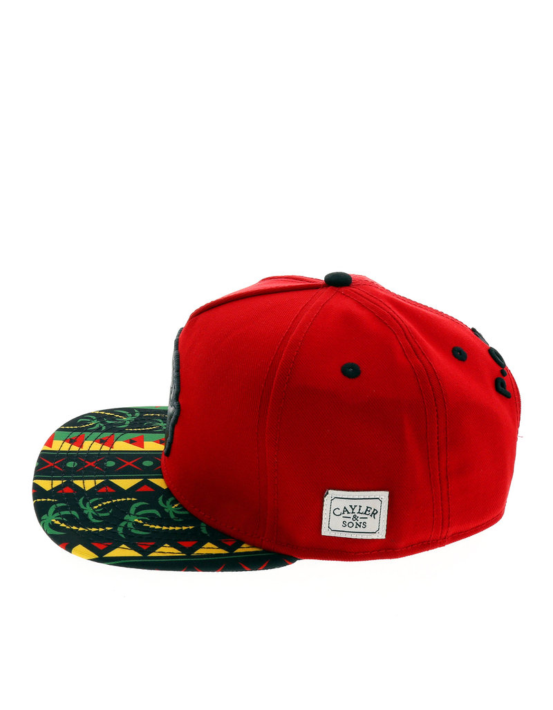 Cayler & Sons Wl P.O.W.E.R. Red/Black/Rasta Cap