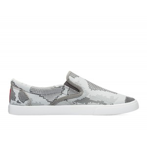 Bucketfeet Digital Snake Charcoal Low Top Women's Canvas Slip-Ons