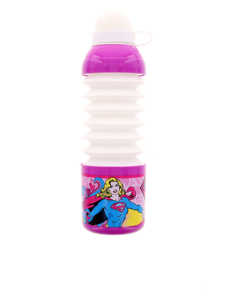 Sharkskinzz Collapsible Pop Up Bottle 18Oz Supergirl