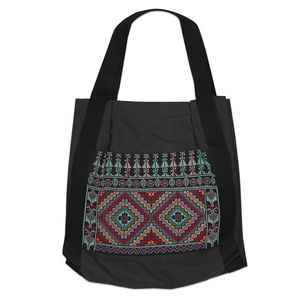 Tribalogy Travel Bag Grey On Multi-Colour Embroidery