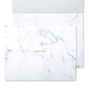 GO STATIONERY MARBLEOUS WHITE LARGE DESK PAD