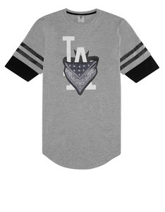 Cayler & Sons Wl Ivan Antonov Scallop Tee Grey-Heather/Black/White