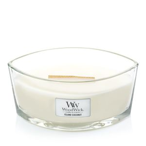 Woodwick Ellipse Jar Island Coconut Off White Candle L