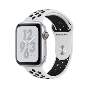 3a4544b56 Apple Watch Nike+ Series 4 GPS 44mm Silver Aluminium Case with Pure  Platinum/Black Nike