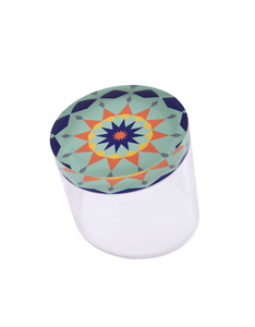 Silsal Nujoom Acrylic Slanted Multi-colored Container [Small]
