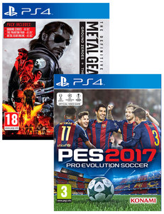 PES 2017: Pro Evolution Soccer + Metal Gear Solid V: The Definitive Experience - Ground Zeroes + The Phantom Pain [Bundle]