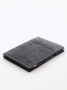 Garzini Essenziale Magic Wallet with RFID Window Vintage Carbon Black Wallet
