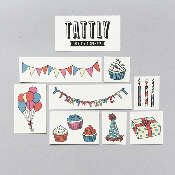 Tattly Party Temporary Tattoo Set