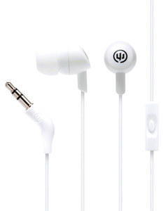 Wicked Audio Brawl White Knuckle With Mic Earbuds
