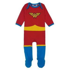 Fabric Flavours Wonder Woman All In One Baby Babygrow Red