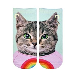 Living Royal Purrfect Cat Glow Women's Ankle Socks