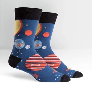 Sock It To Me Men's Crew Planets Socks