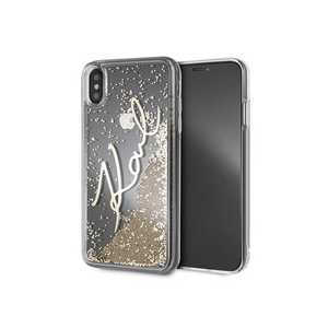 KARL LIQUID GLITTER GOLD CASE GODL FOR IPHONE XS MAX