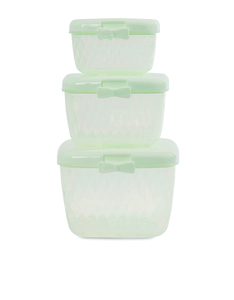 Miss Etoile Light Green Bow Container Set Of 3