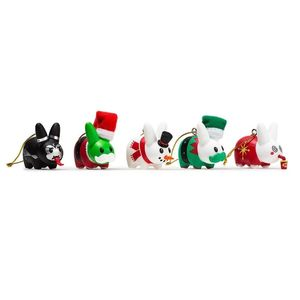 Kidrobot Happy Labbit Christmas Tree Ornaments [5 Pack]