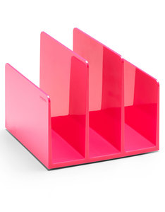 POPPIN INC FIN FILE SORTER PINK