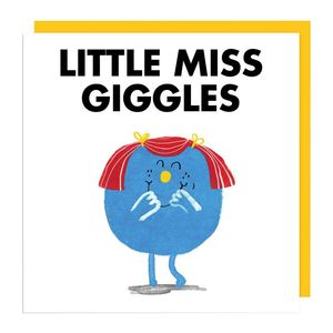 Ohh Deer Little Miss Giggles White/Blue Coaster