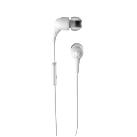 JBL T100A White Earphones with Mic