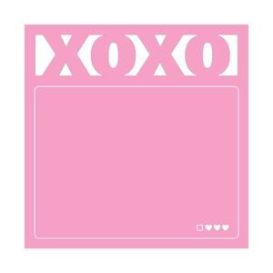 Knock Knock XOXO Die Cut Stickies