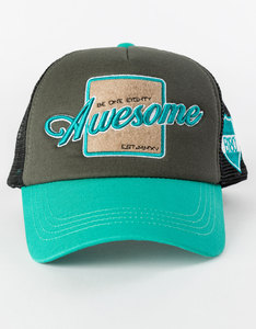 B180 Awesome1 Green/Black Cap