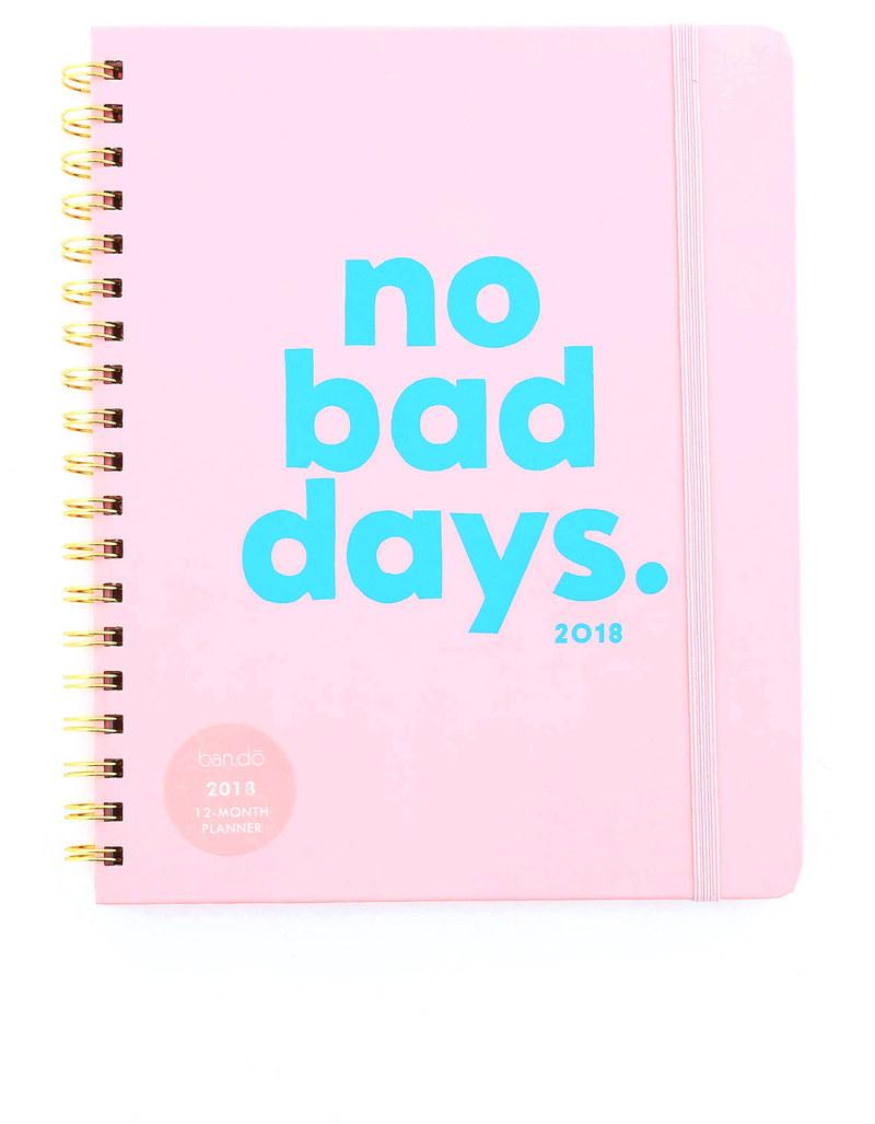 Bad Planner ban do no bad days 2018 12 month planner agendas organizers