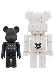 Bearbrick X Nanoblock 100 Percent Figures [Set of 2]