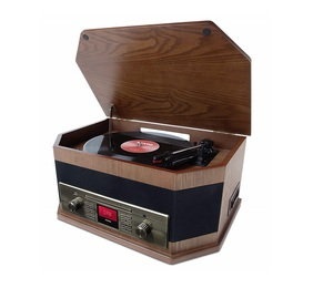 ION Octave LP 8-In-1 Turntable Wood