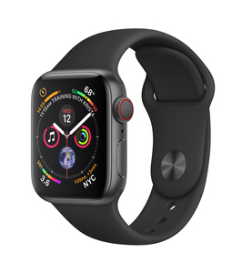 Apple Watch Series 4 GPS +Cellular 40mm Space Grey Aluminium Case with Black Sport Band