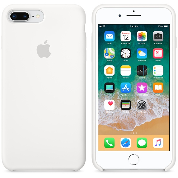 apple silicone case white for iphone 8 plus 7 plus