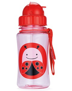 Skip Hop Zoo Straw Kids Water Bottle Ladybug 350ml