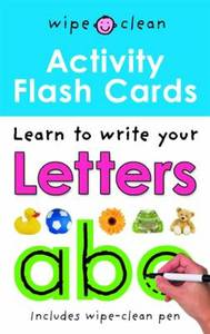 Wipe Clean Activity Flash Cards ABC
