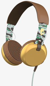 Skullcandy Grind Scout Camo/Brown/Gold W/Mic Headphones