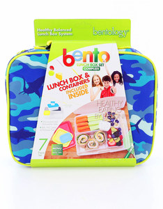 Bentology Shark Camo Complete Lunch Box Set