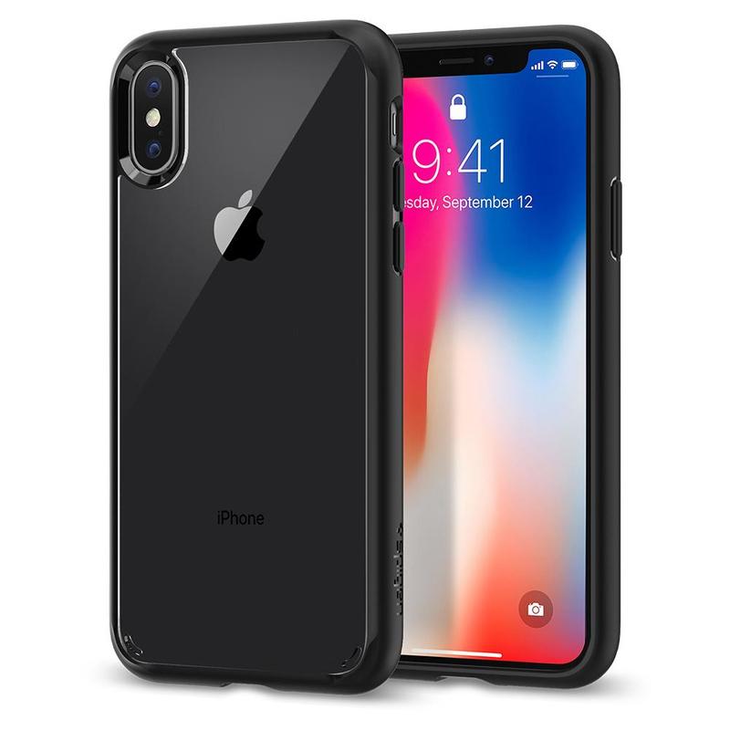 Spigen Ultra Hybrid Case Matte Black For Iphone X Cases